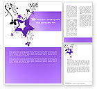 Abstract/Textures: Violet Stars Word Template #05630