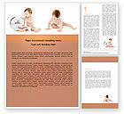 Education & Training: Sweet Babies Word Template #05642