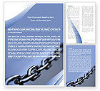 Business Concepts: Steel Chain Word Template #05646
