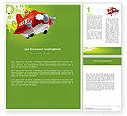 Education & Training: Toy Plane Word Template #05648