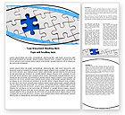 Consulting: Plantilla de Word - enigma azul #05650