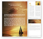 Nature & Environment: Yacht Word Template #05655