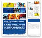 Utilities/Industrial: Harbor Word Template #05684