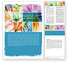 Holiday/Special Occasion: Bloeiende Lelies Gratis Word Template #05685