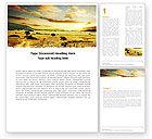 Nature & Environment: Gelbes tal Word Vorlage #05696