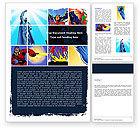 Art & Entertainment: Superheroes Word Template #05738
