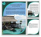 Careers/Industry: Lagoon Word Template #05746