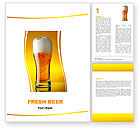 Food & Beverage: Goblet Of Beer Foaming Word Template #05748