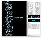 Nature & Environment: Bubbles In Dark Liquid Word Template #05756