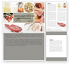 Careers/Industry: Food Protein Word Template #05761