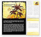 Careers/Industry: Palm Trees Word Template #05762