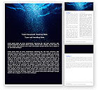 Nature & Environment: Underwater Word Template #05763