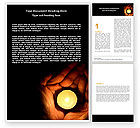 Religious/Spiritual: Candle In Hands Word Template #05771