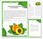 Food & Beverage: Peach Word Template #05772