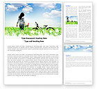 Nature & Environment: In the Field Word Template #05776