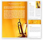 Art & Entertainment: Trumpet Word Template #05788
