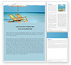 Holiday/Special Occasion: Beach Bench Word Template #05791