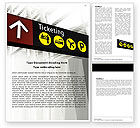 Cars/Transportation: Ticket Reservation Word Template #05794