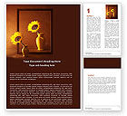 Art & Entertainment: Sunflower Still Life Word Template #05796