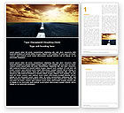 Business Concepts: Long Distance Road Word Template #05799