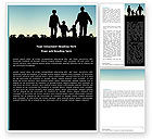 People: Family Walk Word Template #05802