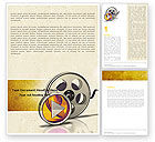 Careers/Industry: Moving Pictures Word Template #05803