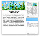 Nature & Environment: Field Flowers Word Template #05804