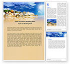 Nature & Environment: Stony Beach Word Template #05807