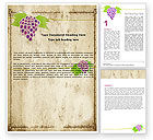 Agriculture and Animals: Grapes Ornament Word Template #05813