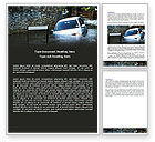 Nature & Environment: Road Flooding Word Template #05829