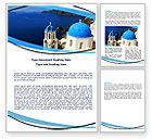 Religious/Spiritual: Greek Island Word Template #05833