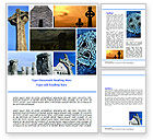 Religious/Spiritual: Celtic Revival Word Template #05840