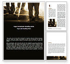 Careers/Industry: Working Class Word Template #05841