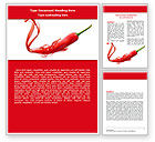 Food & Beverage: Chili Pepper Word Template #05845