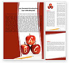 Education & Training: Apples ABC Word Template #05849