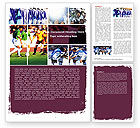 Sports: Soccer Team Word Template #05851