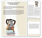 Education & Training: School Math Word Template #05855