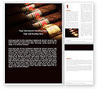 Careers/Industry: Cigars Word Template #05858