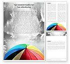 Consulting: Rainbow Umbrella Word Template #05861