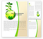 Nature & Environment: Green Earth Word Template #05862