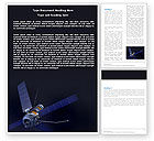 Technology, Science & Computers: Space Satellite Word Template #05872