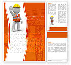 Construction: Symbolic Figure Of A Builder Word Template #05877