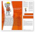 Construction: 建筑师的象征人物Word模板 #05877