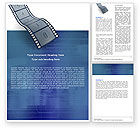 Careers/Industry: Film Strip In Blue Color Word Template #05878
