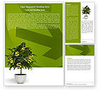 Financial/Accounting: Money Tree In Pot Word Template #05879