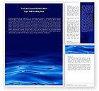 Nature & Environment: Plantilla de Word - las olas del mar #05881