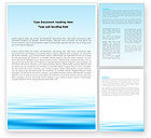 Nature & Environment: Blue Surface Word Template #05885