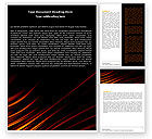 Abstract/Textures: Fire Lines Word Template #05890