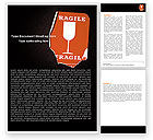Business Concepts: Fragile Packaging Word Template #05891