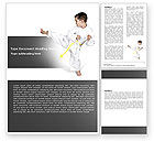 Sports: Karate Kind Word Template #05892